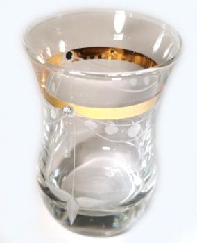 Art Glass Kamelya Türkisch Teeglas Set, 12 teilig