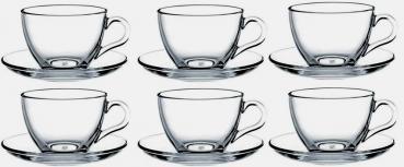 Pasabahce Basic 12 tlg. Tassen mit Unterteller