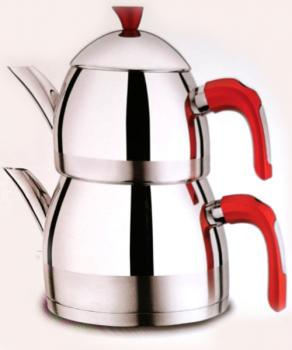 SHOV Antalya Teekanne, Elegantes Design, für Türkischer Tee, Familie